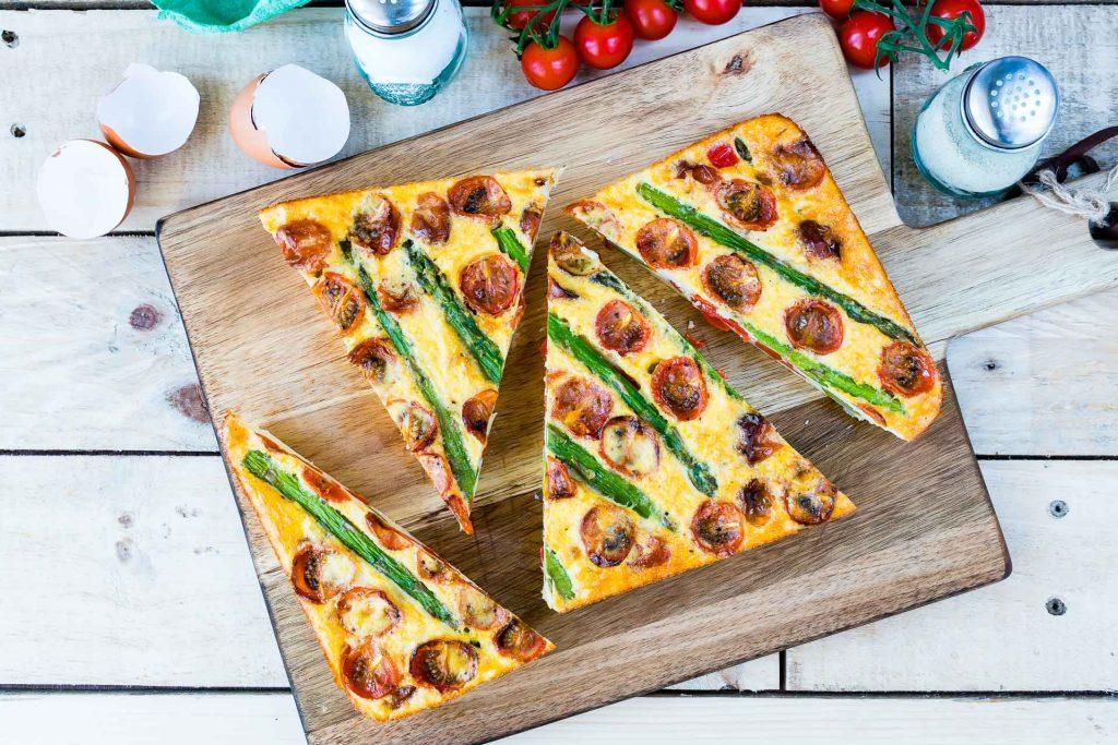 Healthy Recipe Asparagus Tomato Frittata