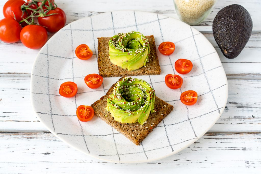 Avocado Rose on Toast Clean Food Recipe