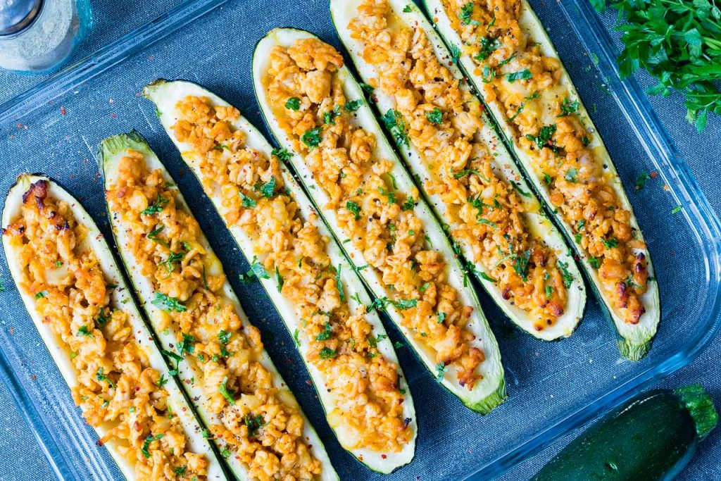 Buffalo Zucchini Boats Recipe