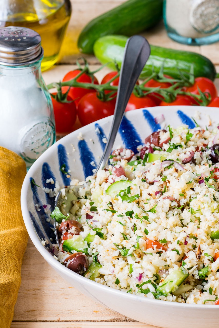 Gluten Free Cauliflower Rice Tabbouleh Clean Eating