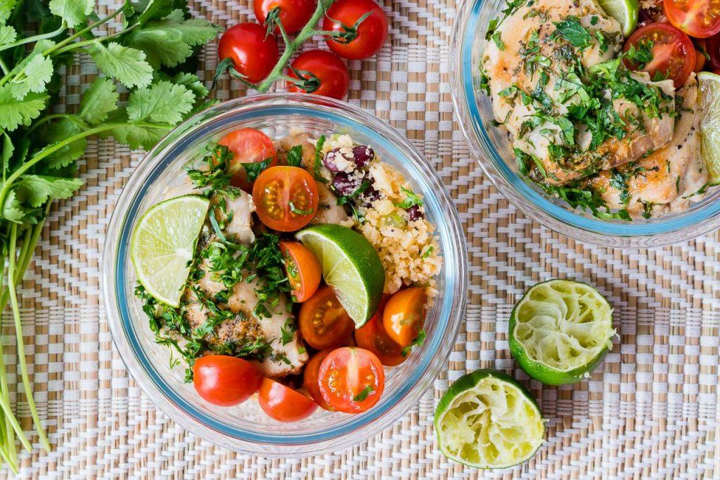 Cilantro Lime Chicken + Cauliflower Rice Recipe CleanFoodCrush