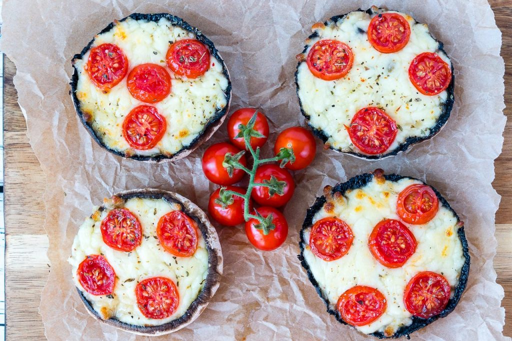 Clean Eating 10 Minute Portobello Pizzas Recipe