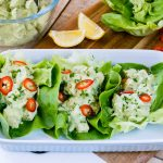 Clean Eating Avocado Chicken Salad Lettuce Wraps