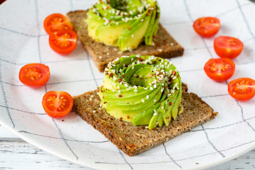 Clean Eating Avocado Rose on Toast