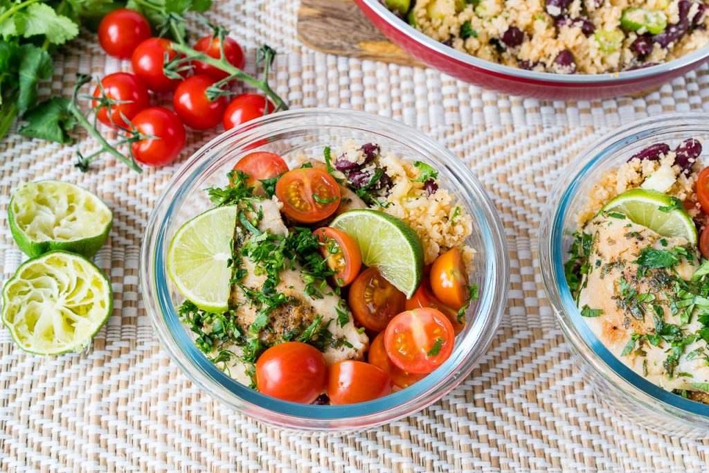 Clean Eating Cilantro Lime Chicken Cauliflower Rice