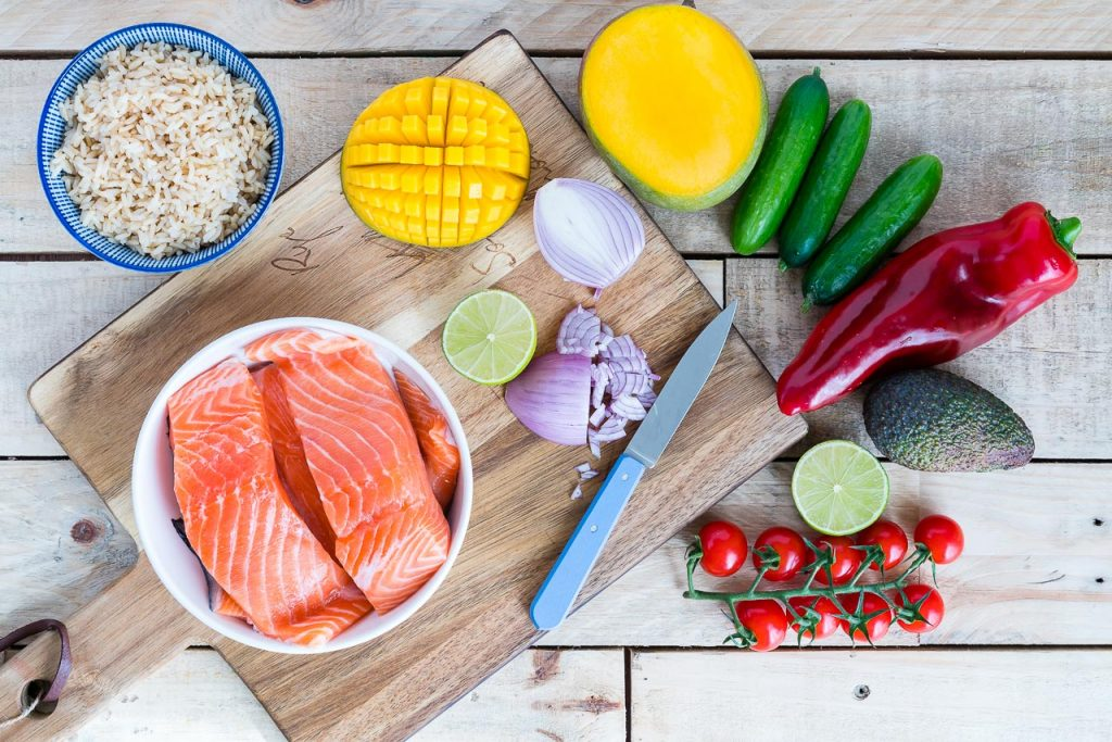 Grilled Lime Salmon With Salsa Dinner Idea