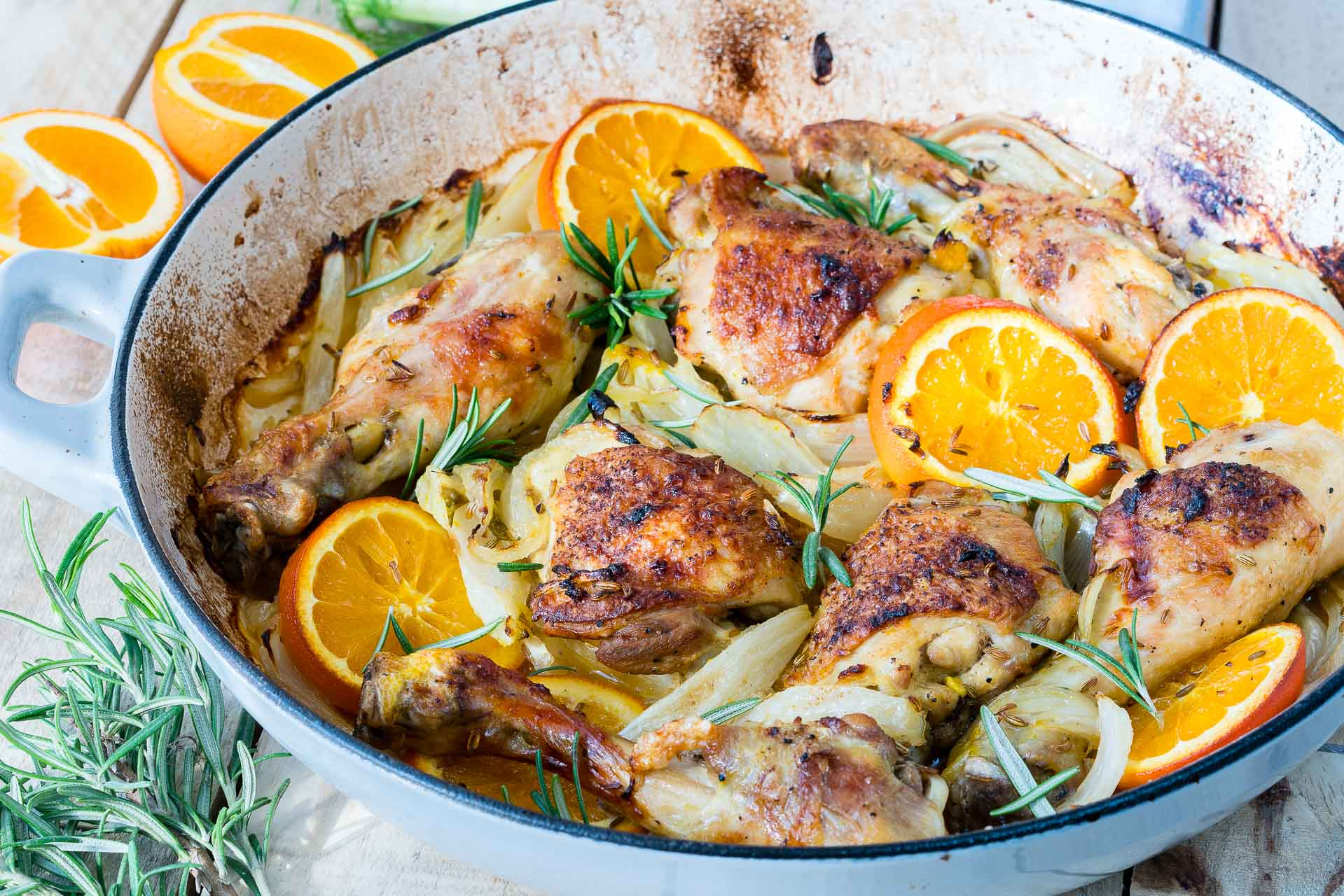 Clean Eating Orange Fennel Roast Chicken