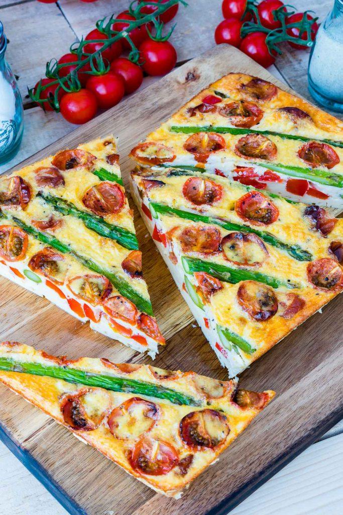 Asparagus Tomato Frittata Breakfast Idea