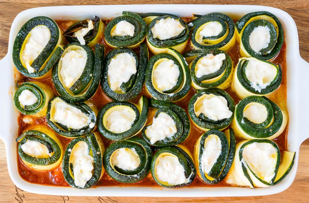 Zucchini Lasagna Roll Ups Recipe