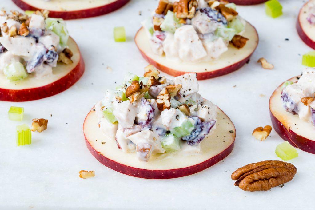 Cranberry Chicken Salad on Apple Slices Recipe