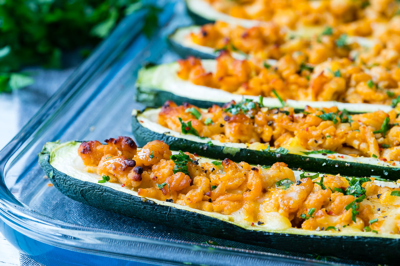 Eat Clean Buffalo Zucchini Boats