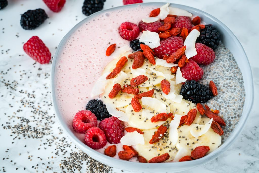 Glowing Skin Chia Breakfast Bowl
