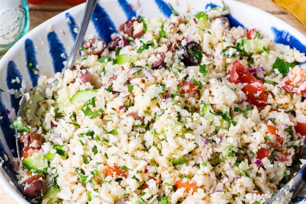 Gluten Free Cauliflower Rice Tabbouleh