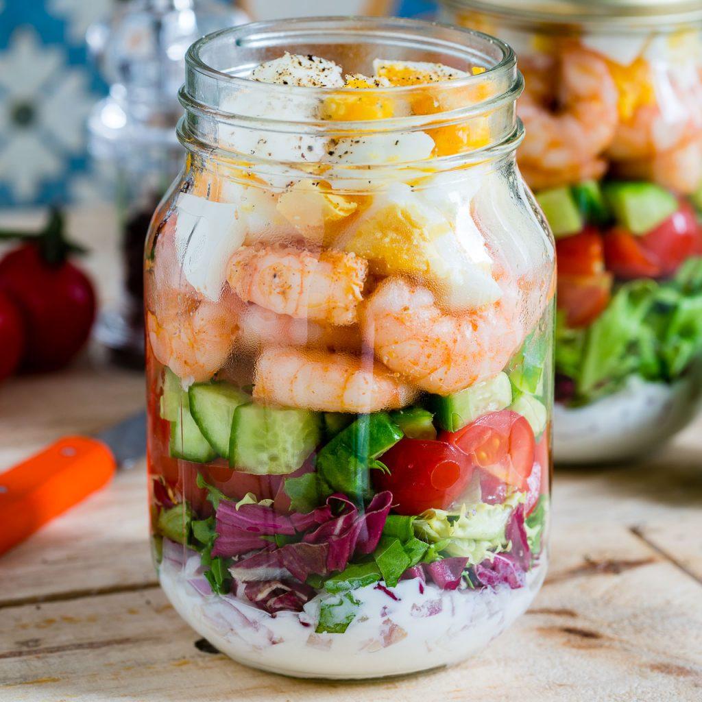 Shrimp + Cobb Jar Salad Recipe
