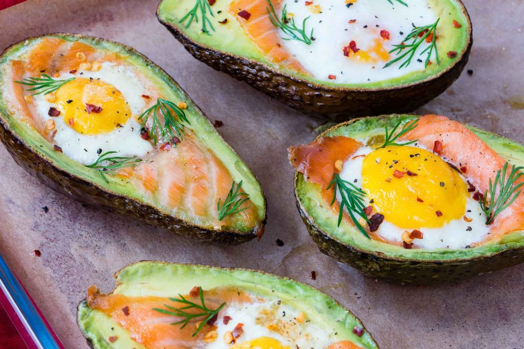 Smoked Salmon Egg Baked Avocados CleanFoodCrush