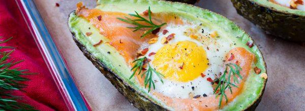Smoked Salmon + Egg Baked Avocados Recipe