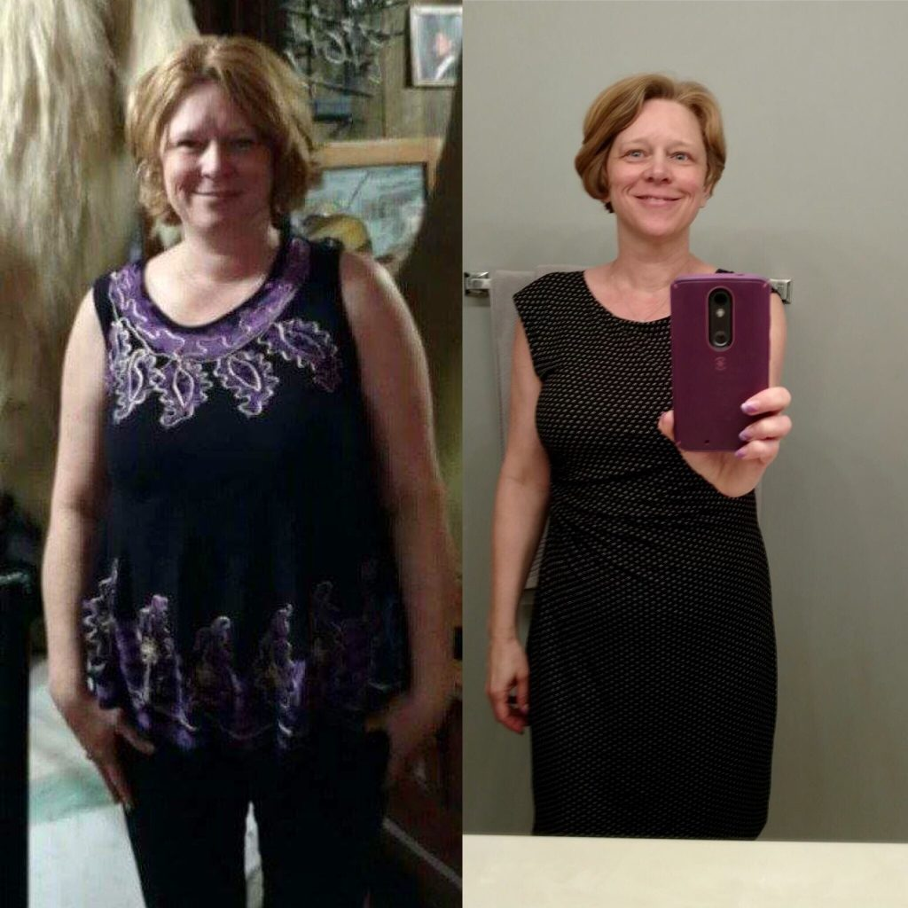 Andrea Before and After 30 Day Clean Eating Challenge