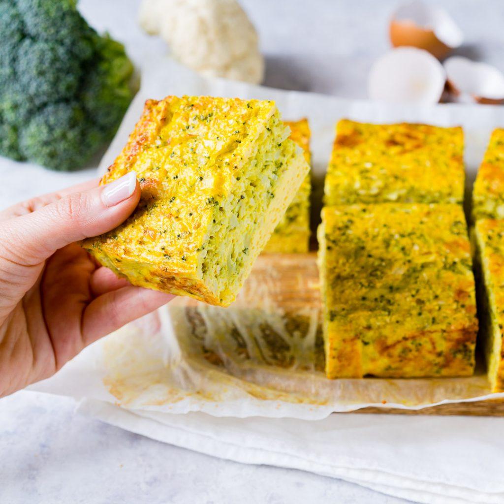 Broccoli Cauliflower Rice Frittata Recipe Instructions