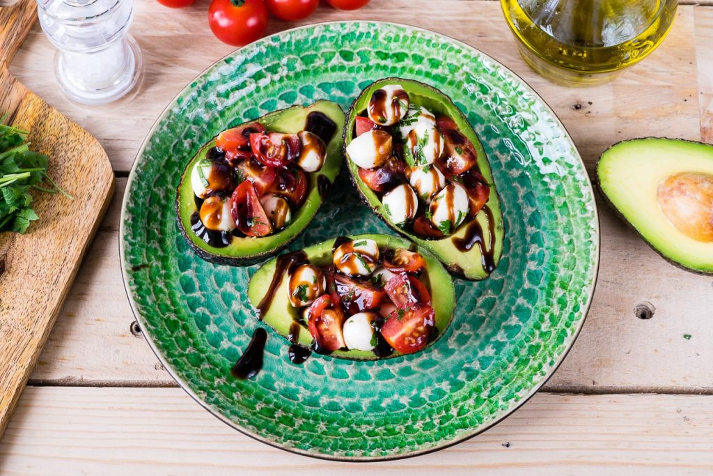 Caprese Stuffed Avocados Eat Clean