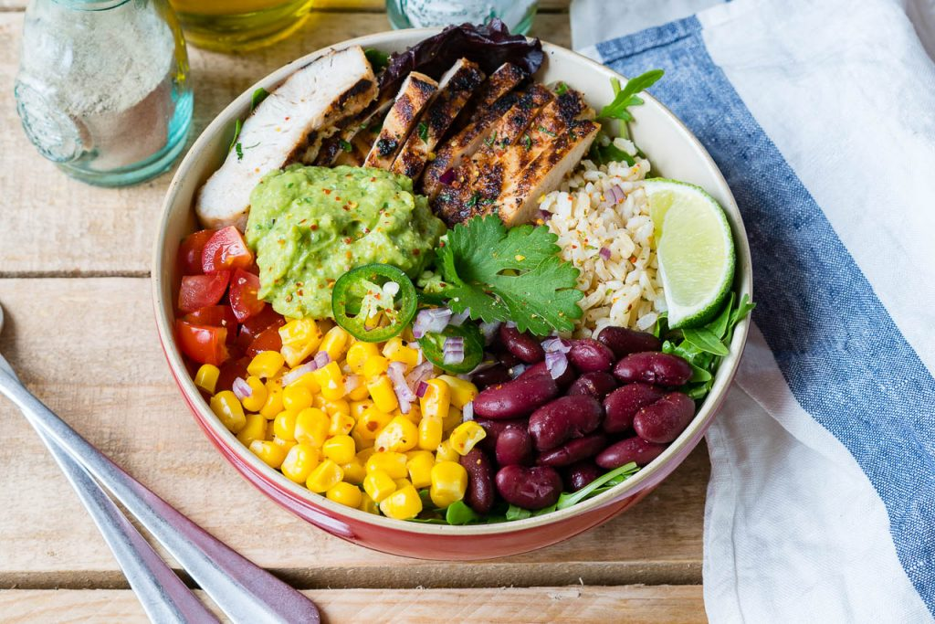 Chicken Burrito Bowls Cilantro Lime Rice Recipe