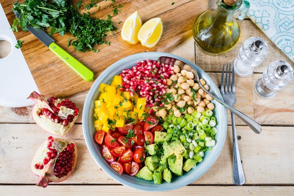 Chickpea Tomato Avocado Salad Recipe