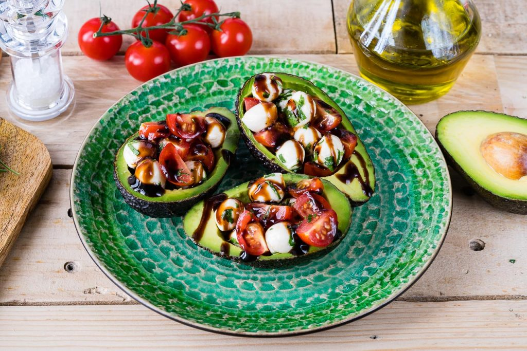 Easy to prepare Caprese Stuffed Avocados