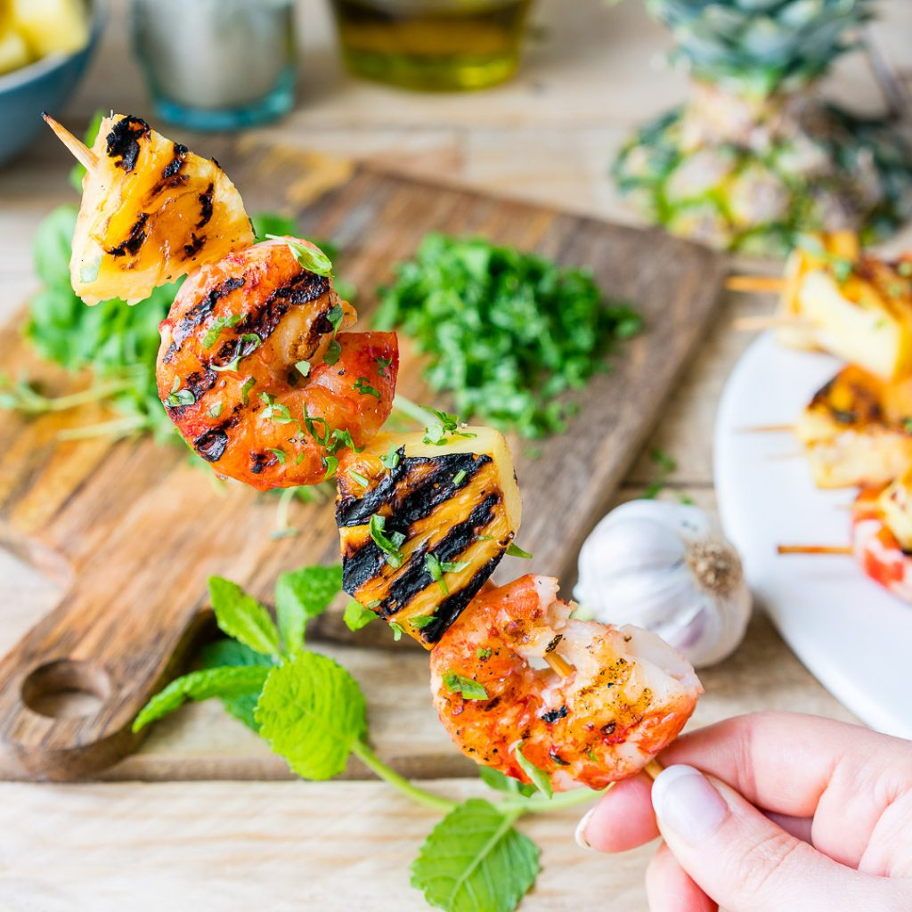 Grilled Shrimp Pineapple Easy Preparation