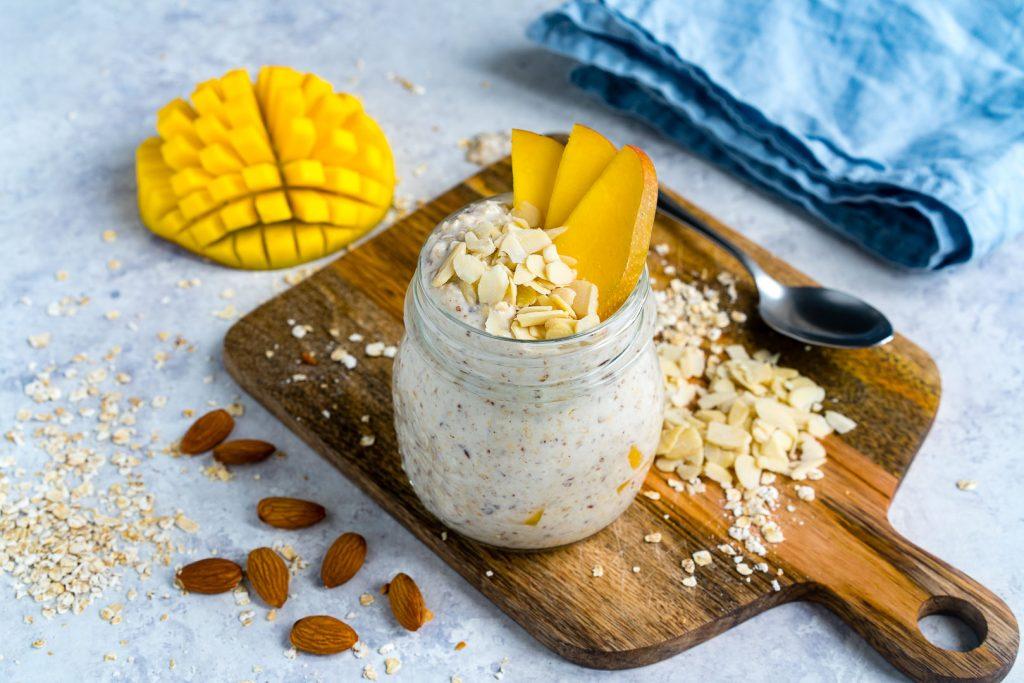 Mango Coconut Cream Overnight Oats Recipe