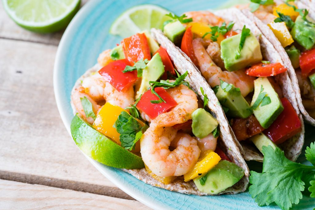 Clean Eating Shrimp Fajitas with Avocado Recipe