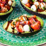 CleanFoodCrush Caprese Stuffed Avocados