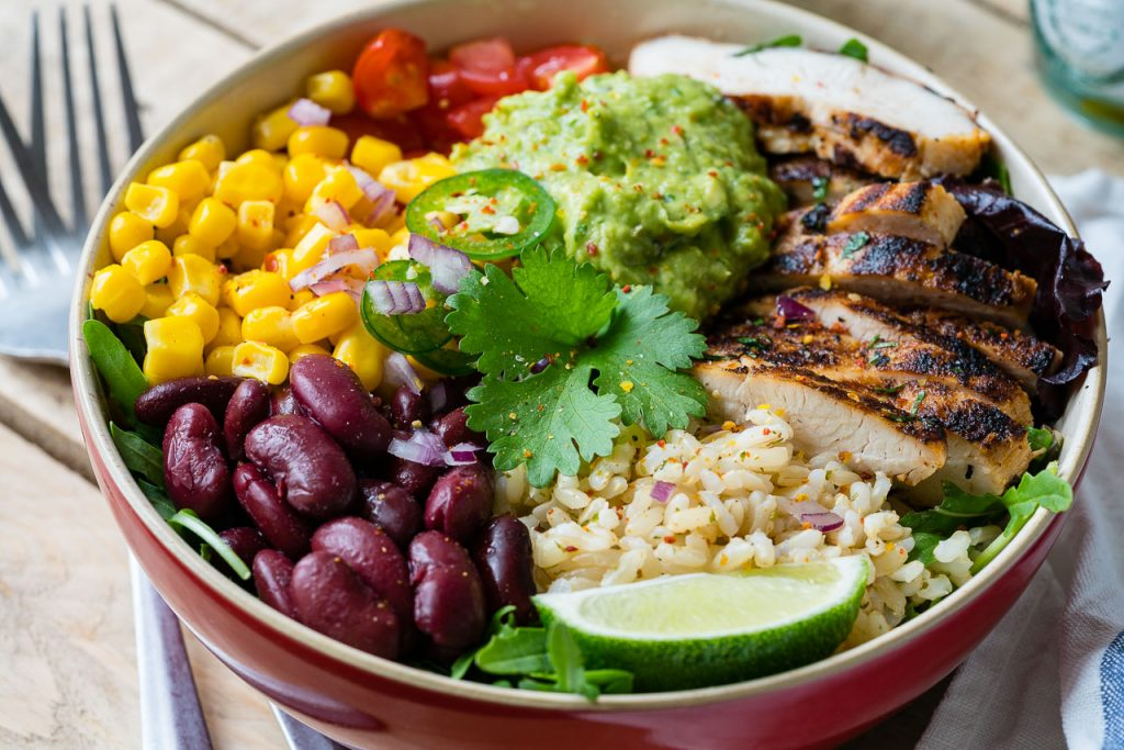 CleanFoodCrush Chicken Burrito Bowls + Cilantro-Lime Rice