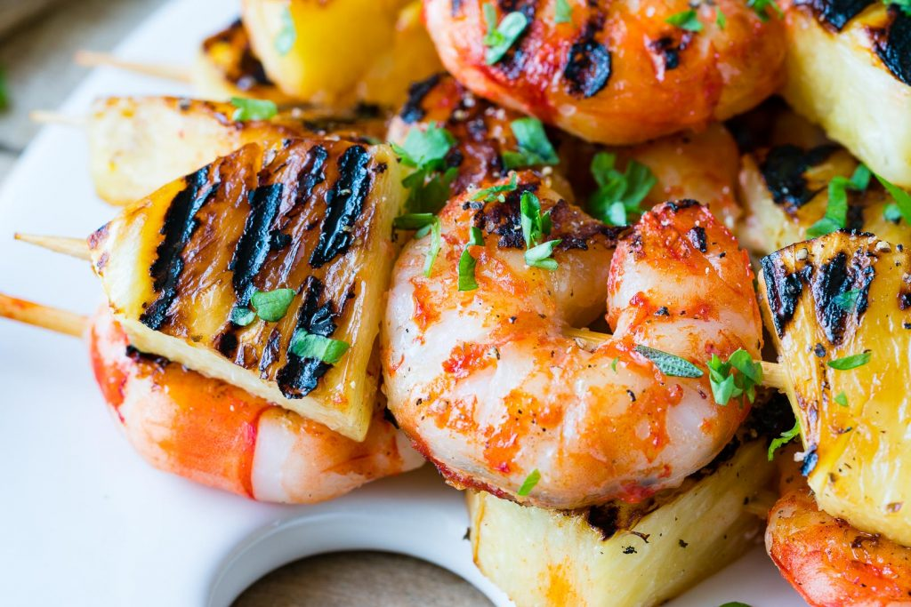 Grilled Shrimp Pineapple Kabobs Dinner Idea