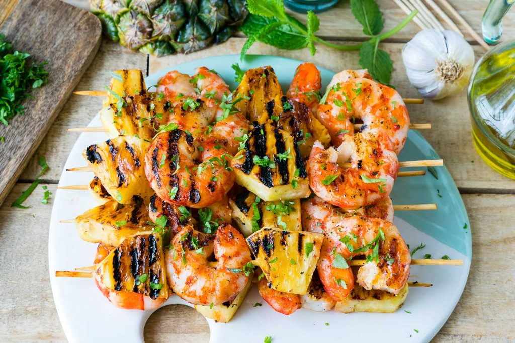 Grilled Shrimp Pineapple Kabobs Recipe