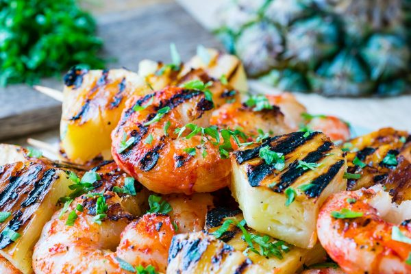 Grilled Shrimp Pineapple Kabobs For Tropical Clean Eating Bliss Clean Food Crush