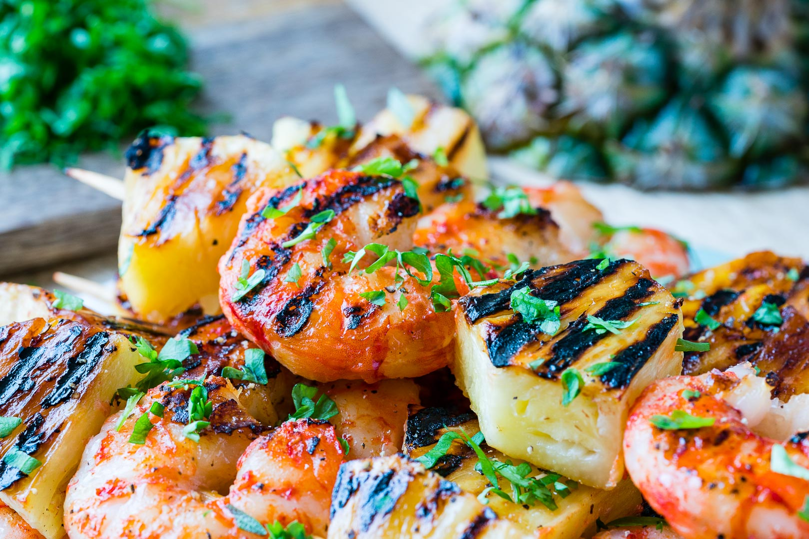 CleanFoodCrush Grilled Shrimp + Pineapple Kabobs Recipe