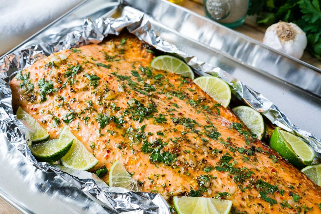 Honey Garlic Lime Salmon Recipe