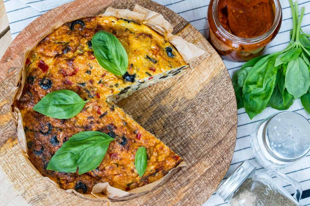 CleanFoodCrush Mediterranean Cauliflower Rice Quiche