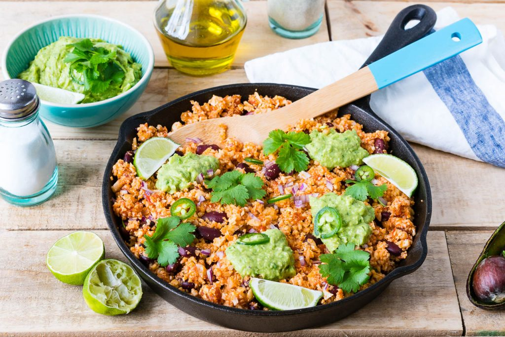 Real Mexican Style Cauliflower Rice Guacamole Recipe