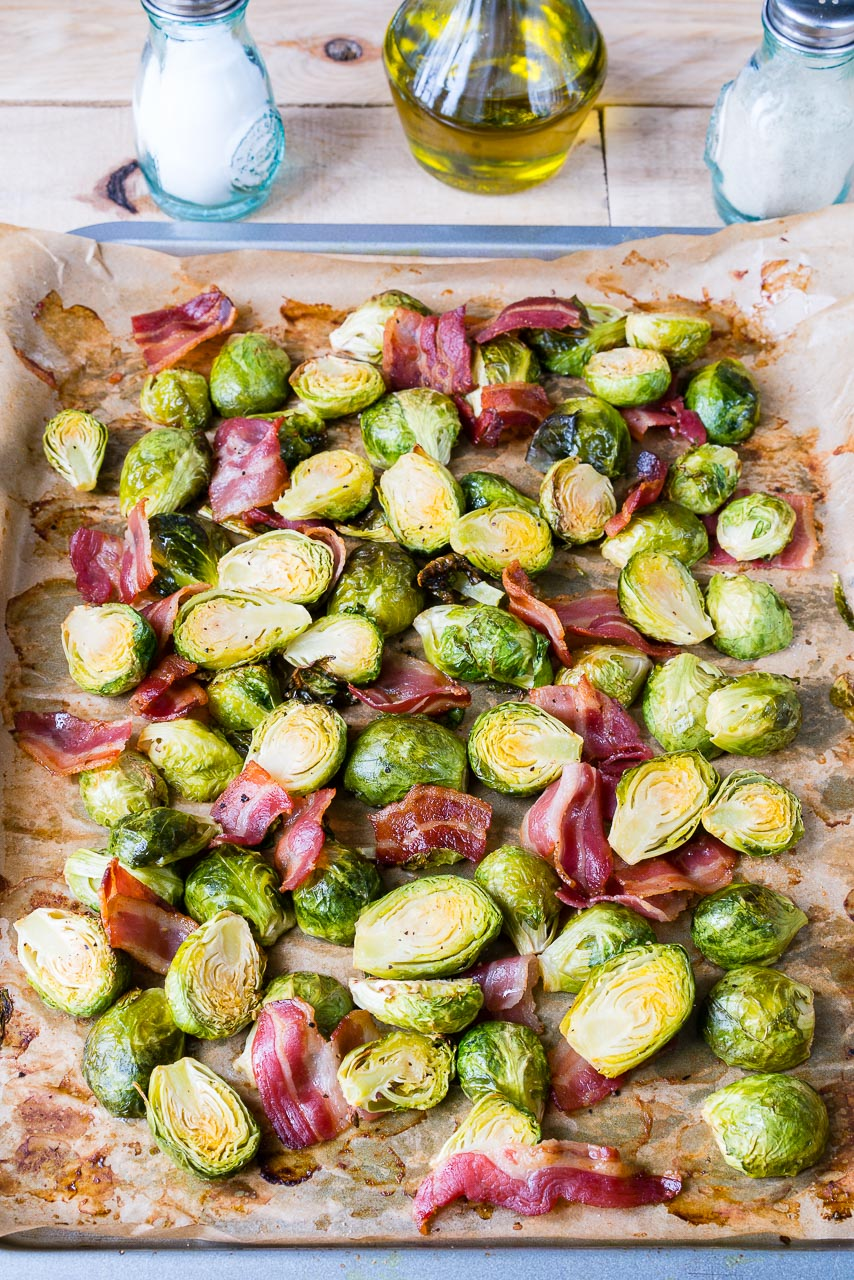 Oven Roasted Brussels Sprouts Bacon Side Dish Ideas