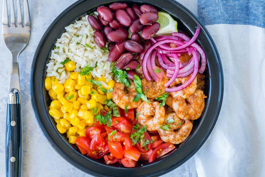 CleanFoodCrush Shrimp Burrito Meal Prep Bowls