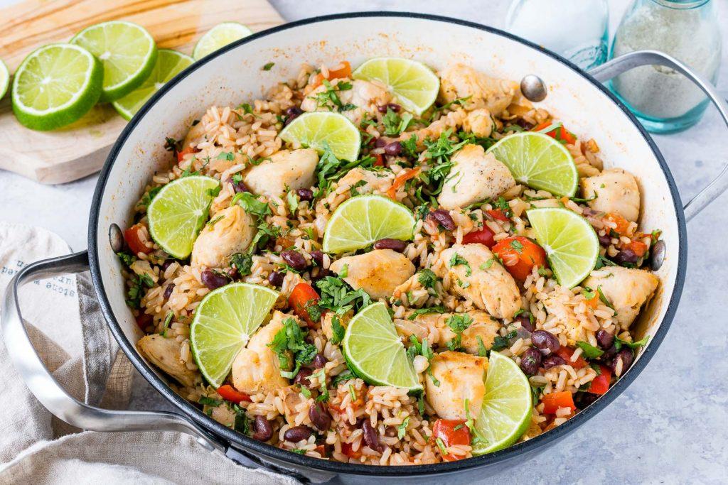CleanFoodCrush Skillet Cilantro-Lime Chicken + Rice