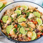 CleanFoodCrush Skillet Cilantro-Lime Chicken + Rice