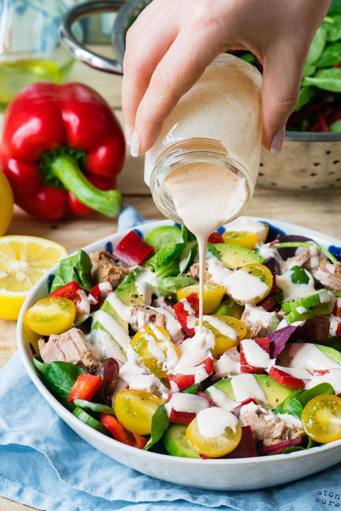 Fresh Tuna Salad Chipotle Dressing