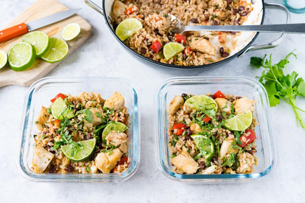 Delicious Skillet Cilantro Lime Chicken Rice Recipe