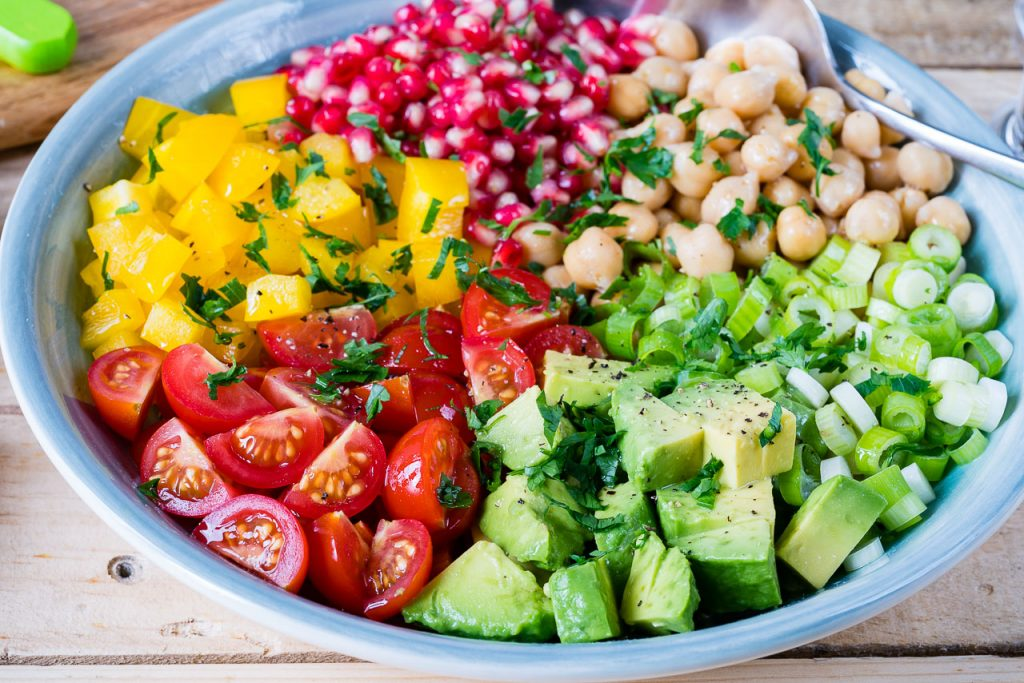 Eat Clean Chickpea Tomato Avocado Salad