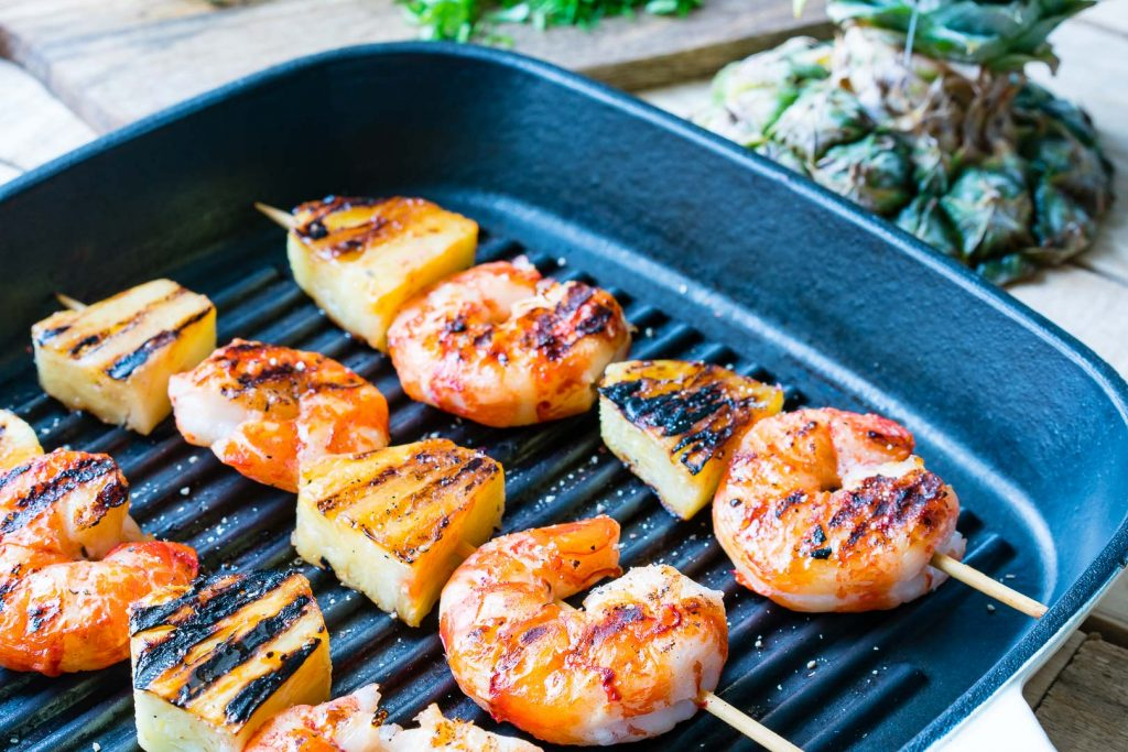 Grilled Shrimp Pineapple Kabobs Recipe Instructions
