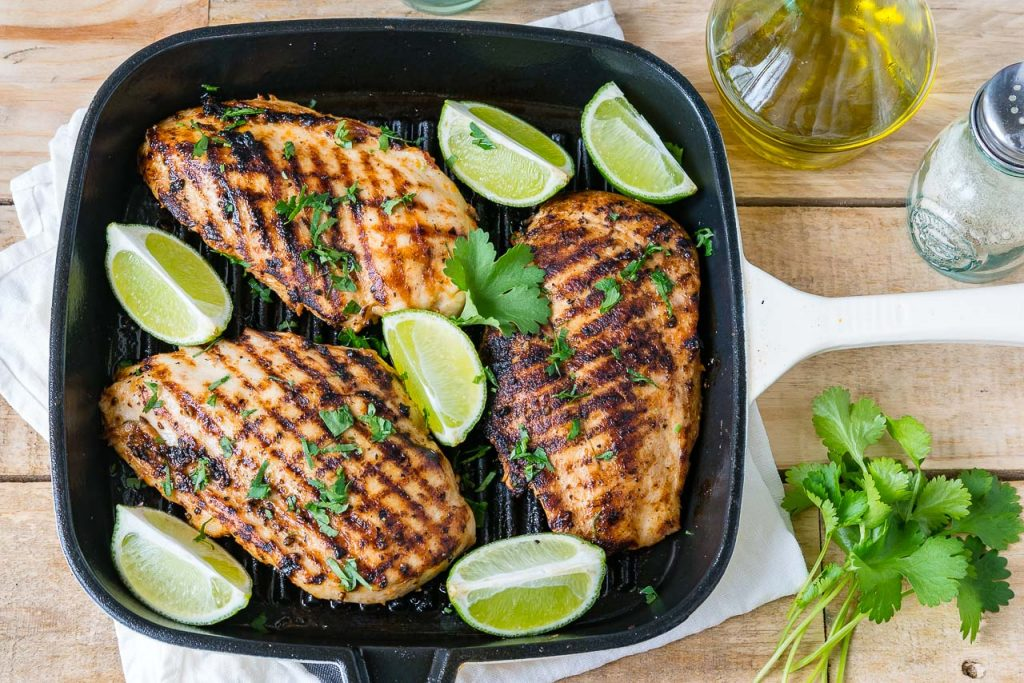 Grilled Taco Lime Chicken for Tacos