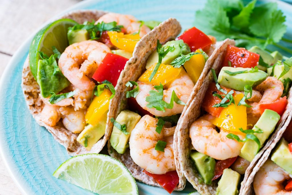 Fresh and healthy Shrimp Fajitas with Avocado Recipe