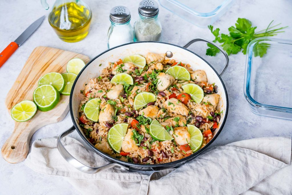 Cilantro Lime Chicken Rice Skillet Recipe