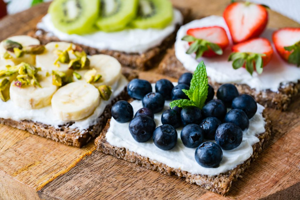 Breakfast Ricotta Toast with Fruit